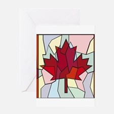 Canadian Stained Glass Window Greeting Cards
