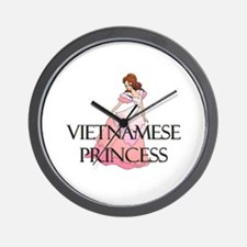 Vietnamese Princess Wall Clock