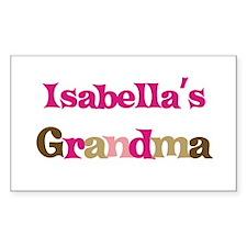 Isabella's Grandma Rectangle Decal
