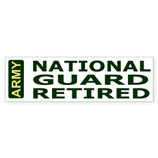National Guard Retired<BR> Bumper Sticker 3