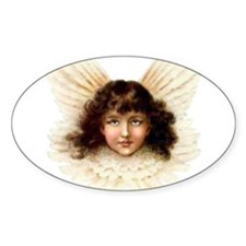 Victorian Angel Oval Decal