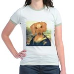 Mona Dachshund Jr. Ringer T-Shirt