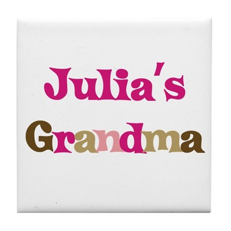 Julia's Grandma Tile Coaster