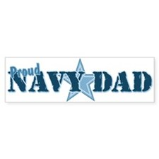 Proud Navy Dad Bumper Car Sticker