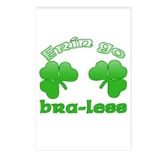 Erin Go Bra-less Postcards (Package of 8)