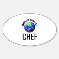 World's Coolest CHEF Oval Decal