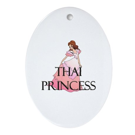 Thai Princess Oval Ornament