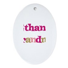 Ethan's Grandma  Oval Ornament