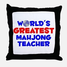 World's Greatest Mahjo.. (A) Throw Pillow