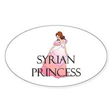 Syrian Princess Oval Decal