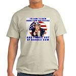 Angry Uncle Sam Ash Grey T-Shirt
