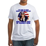 Angry Uncle Sam Fitted T-Shirt