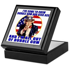 Angry Uncle Sam Keepsake Box