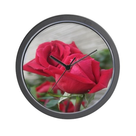 A001-RED ROSE Wall Clock
