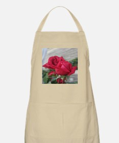 A001-RED ROSE BBQ Apron