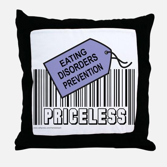 EATING DISORDERS PREVENTION Throw Pillow