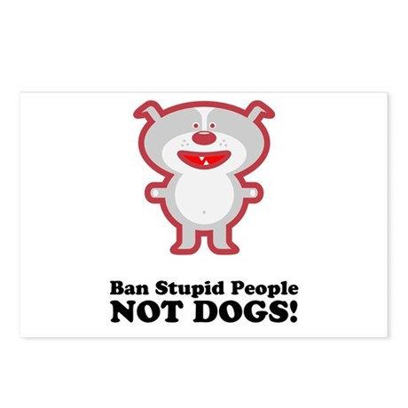 Ban Stupid People Postcards (Package of 8)