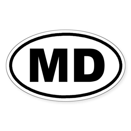 MD Maryland Euro Oval Sticker