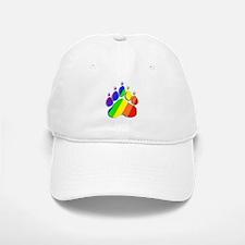 RAINBOW BEAR PAW--SHADOW Baseball Baseball Cap
