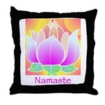 Bejeweled Lotus Flower Throw Pillow