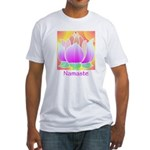 Bejeweled Lotus Flower Fitted T-Shirt