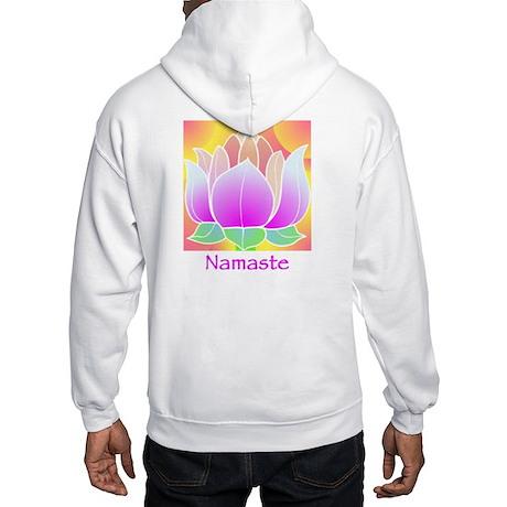 Bejeweled Lotus Flower Hooded Sweatshirt