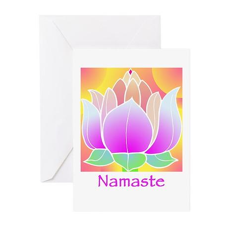 Bejeweled Lotus Flower Greeting Cards (Pk of 10)