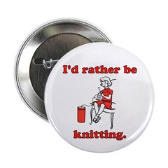 Rather be Knitting Button