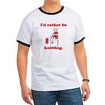Rather be Knitting Ringer T