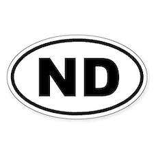 ND North Dakota Euro Oval Decal