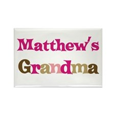 Matthew's Grandma Rectangle Magnet