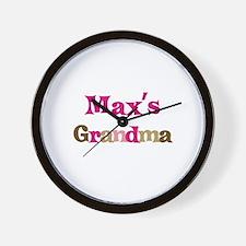 Max's Grandma  Wall Clock