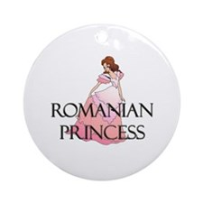 Romanian Princess Ornament (Round)