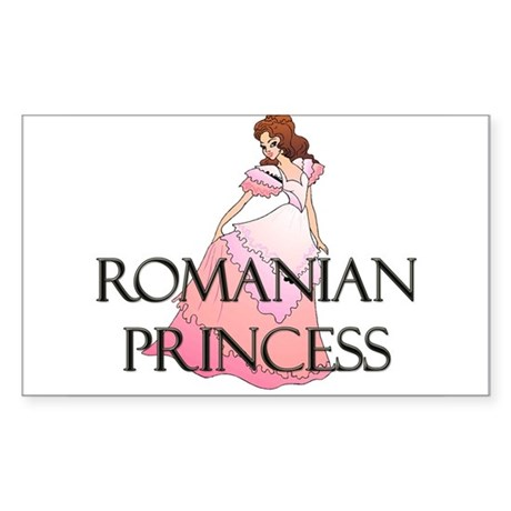 Romanian Princess Rectangle Sticker