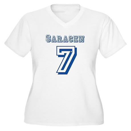 Saracen #7 Jersey Women's Plus Size V-Neck T-Shirt