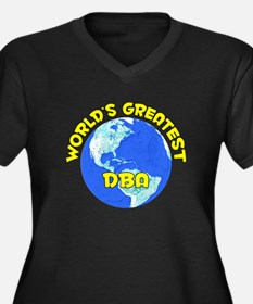World's Greatest DBA (D) Women's Plus Size V-Neck