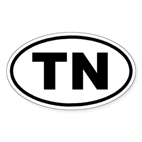 TN Tennessee Euro Oval Sticker