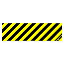 Yellow Stripes Bumper Bumper Sticker