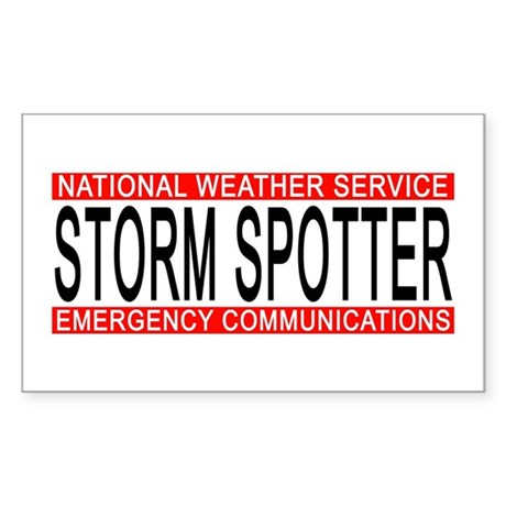 """NWS """"STORM SPOTTER"""" Bumber/Windo Sticker"""