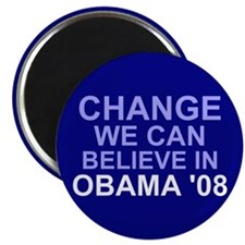 """Blue Change We Can Believe In 2.25"""" Magnet (10 pac"""