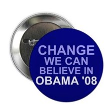 "Blue Change We Can Believe In 2.25"" Button"