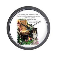 Tri-Color Collie Wall Clock