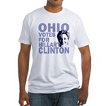 Ohio Votes Clinton Fitted T-Shirt