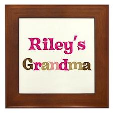 Riley's Grandma  Framed Tile
