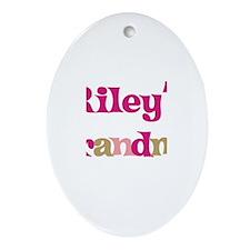 Riley's Grandma  Oval Ornament