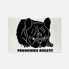 Frenchies Rule Rectangle Magnet
