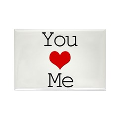You Heart Me Rectangle Magnet (100 pack)