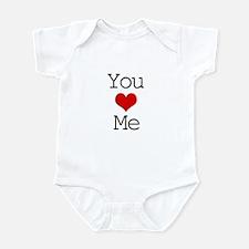 You Heart Me Infant Bodysuit