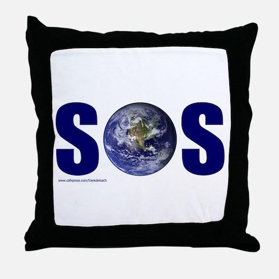 SOS EARTH Throw Pillow