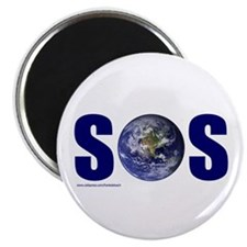 """SOS EARTH 2.25"""" Magnet (100 pack)"""